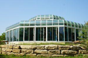 Exterior of pool enclosure