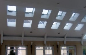 Skylights above