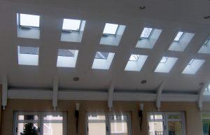 Skylights above
